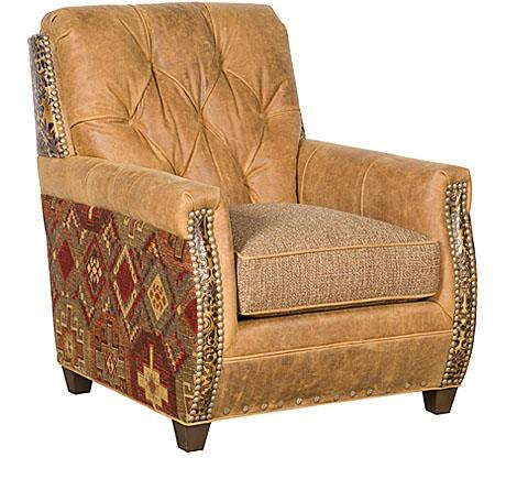 Chair King San Antonio King Hickory Living Room Wyatt Leather Fabric Chair C34 01