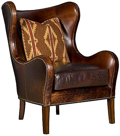 Chair King San Antonio King Hickory Living Room Marlin Leather Chair W35 01 L