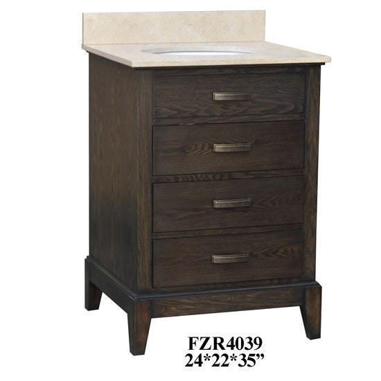Crestview Bathroom Kensington 3 Drawer 24 Vanity Sink Cvfzr4039 D Noblin Furniture Pearl And