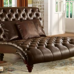 Chaise In Living Room Modern Decor For Small 2 Chaises The Furniture Mall Duluth Doraville Acme Brown Pu With 3 Pillows 15035