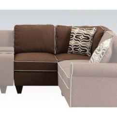 Acme Sectional Sofa Chocolate Craftmaster Chaise Furniture Living Room Kelliava Modular Loveseat Corner