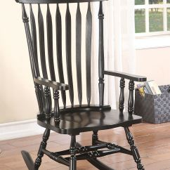 Black Rocking Chairs Chair Stand Test Drawing Acme Furniture Living Room 59211 Homique