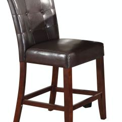 Counter Height Chair Grey Fabric Dining Chairs With Black Legs Acme Furniture Bar And Game Room Set Of 2 07055