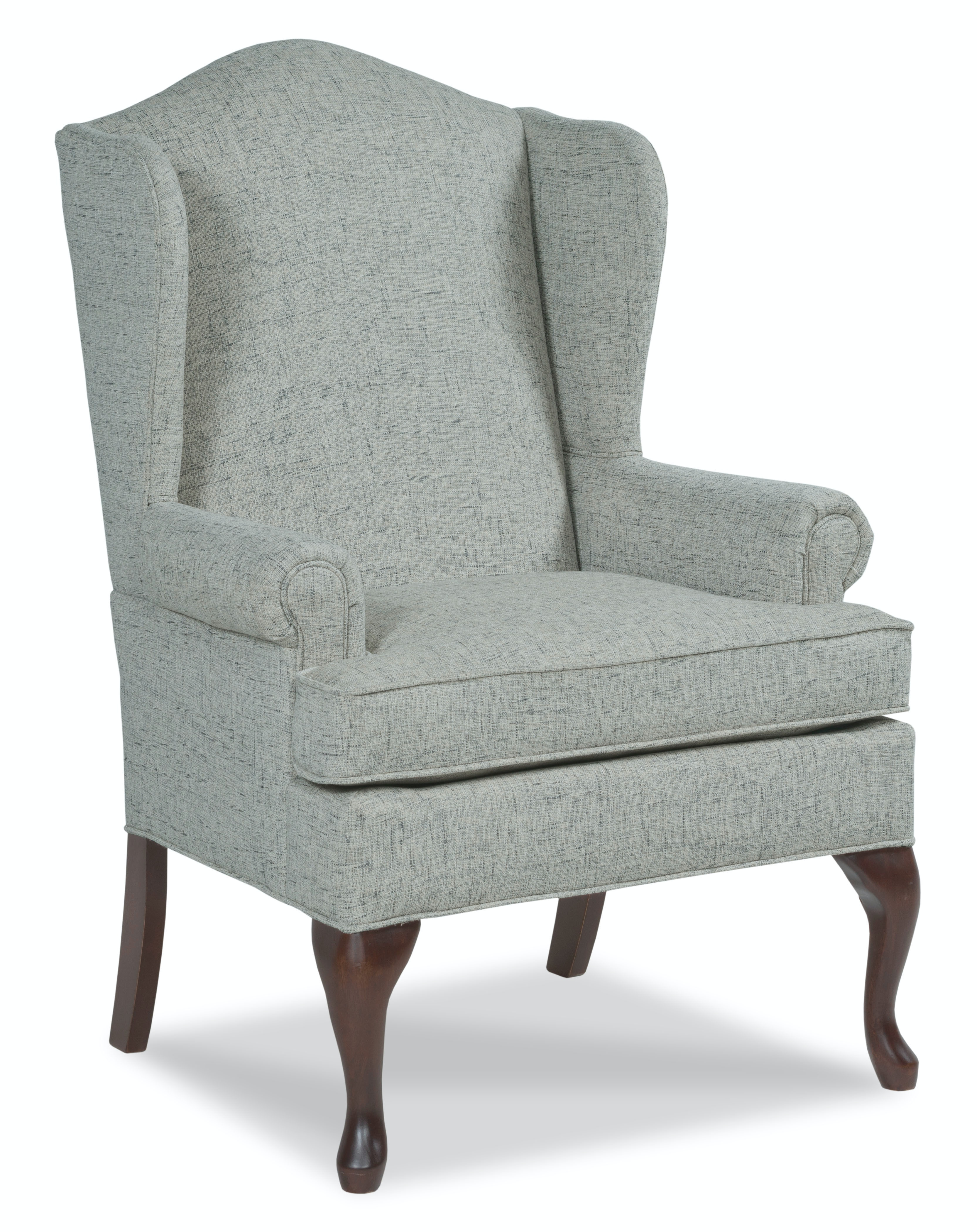 queen anne wingback chair leather folding home depot fairfield company living room bowman wing 5118 01 at hamilton sofa gallery