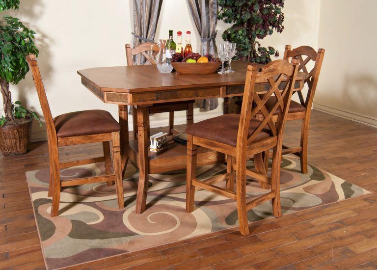 Sunny Designs Dining Room Sedona Adj. Height Dining Table
