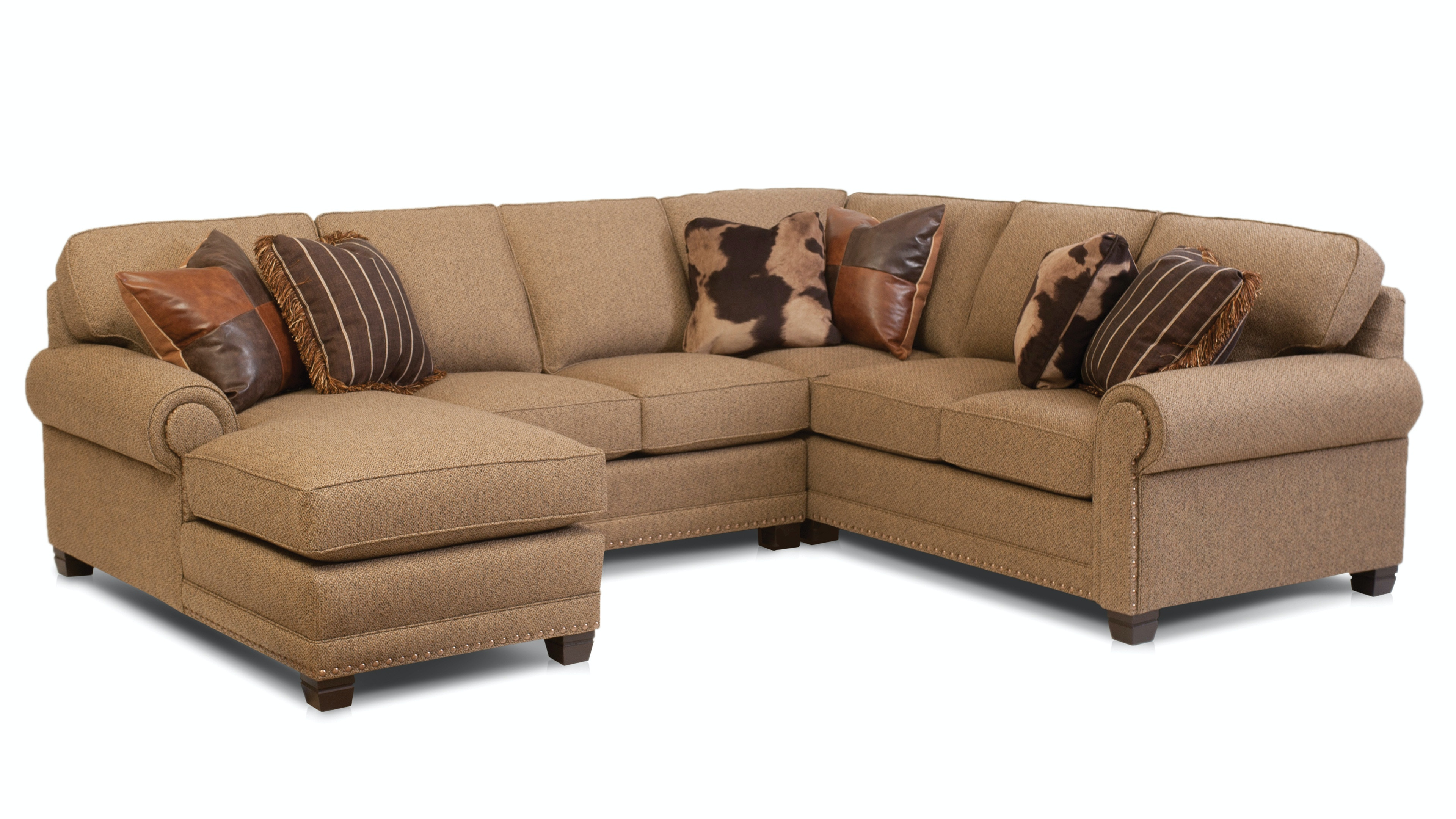 Smith Brothers Living Room 393-sectional - Whitley