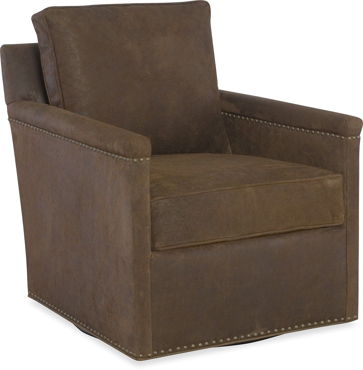 Cr Laine Living Room Leather Swivel Chair L535 05sw Von