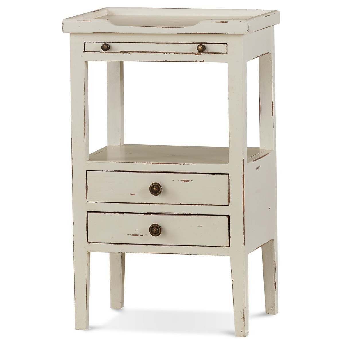 Bramble Living Room Eton 2 Drawer Side Table With Pull Out