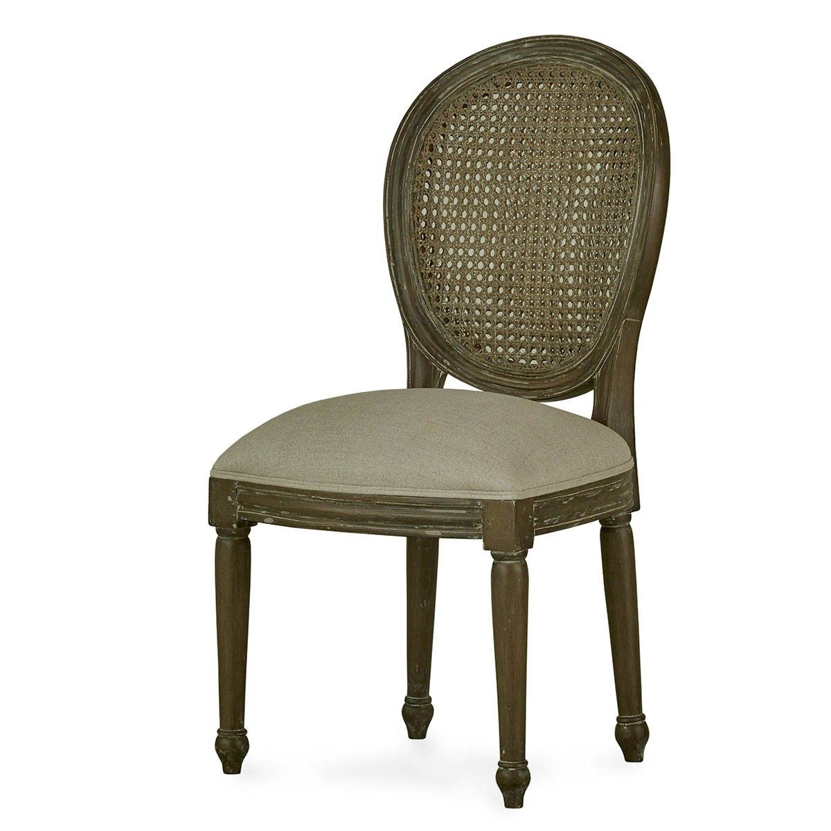 chair without back the revolving bramble dining room tulip rattan flutted leg 26505 at eastern furniture