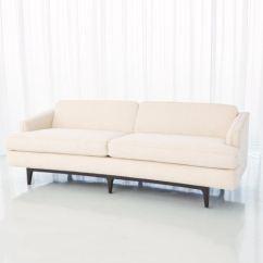 Crescent Sofa Leather Black Corner Cheap Global Views Living Room Avada Ivory 2613