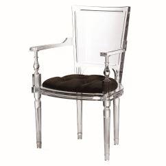 Acrylic Arm Chair Rocking Rockers Marilyn Black Gv331247 Global Views