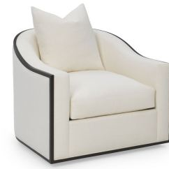 Swivel Chairs Living Room Decoration Small Rc Furniture Caiden Wood Trim Chair Greenbaum At Home Furnishings