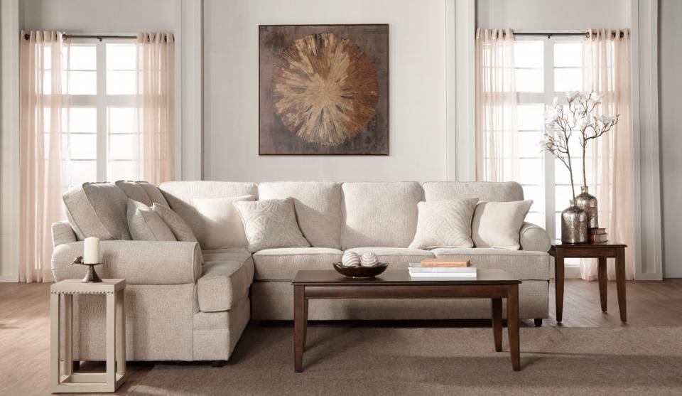 We may earn commission on some of the items you choose to buy. Hughes Furniture Living Room 13100 Sectional - Wenz Home ...