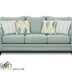 Aqua Sofa Black Chaise Fusion Living Room 1140decade Anderson Furniture Company