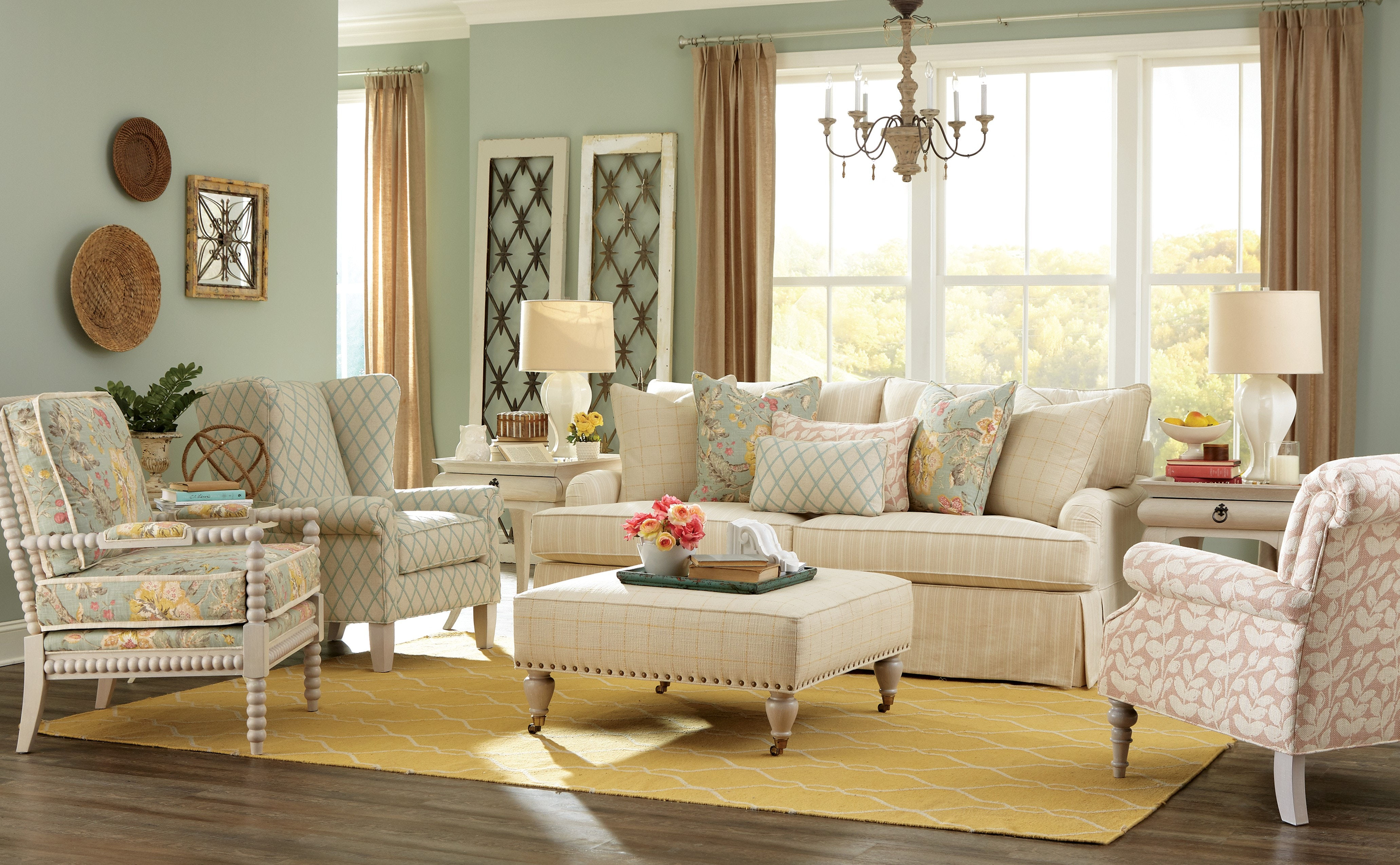 paula deen living room furniture collection rustic rooms by craftmaster sofa p973650bd american