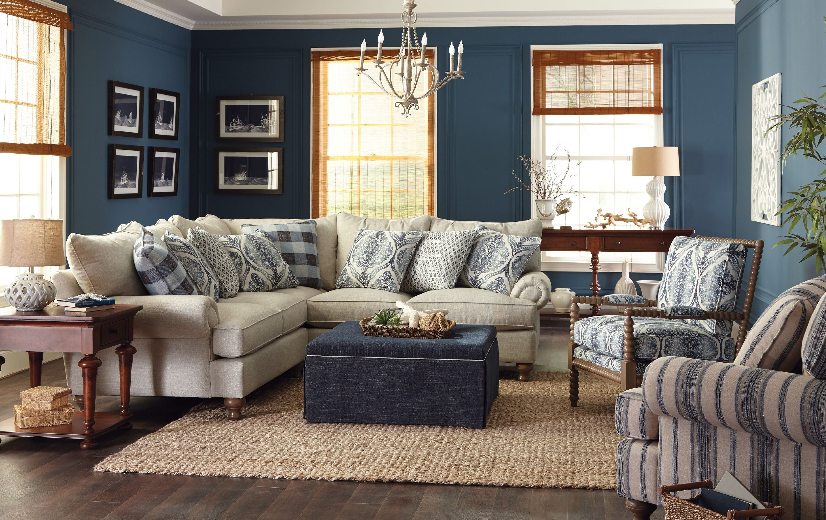 Paula Deen by Craftmaster Living Room Sectional P7117BDSect  CraftMaster  Hiddenite NC