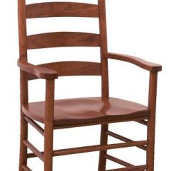 Shaker Ladder Back Chair Folding Foot Caps Canal Dover Furniture Dining Room Ladderback Arm 11203