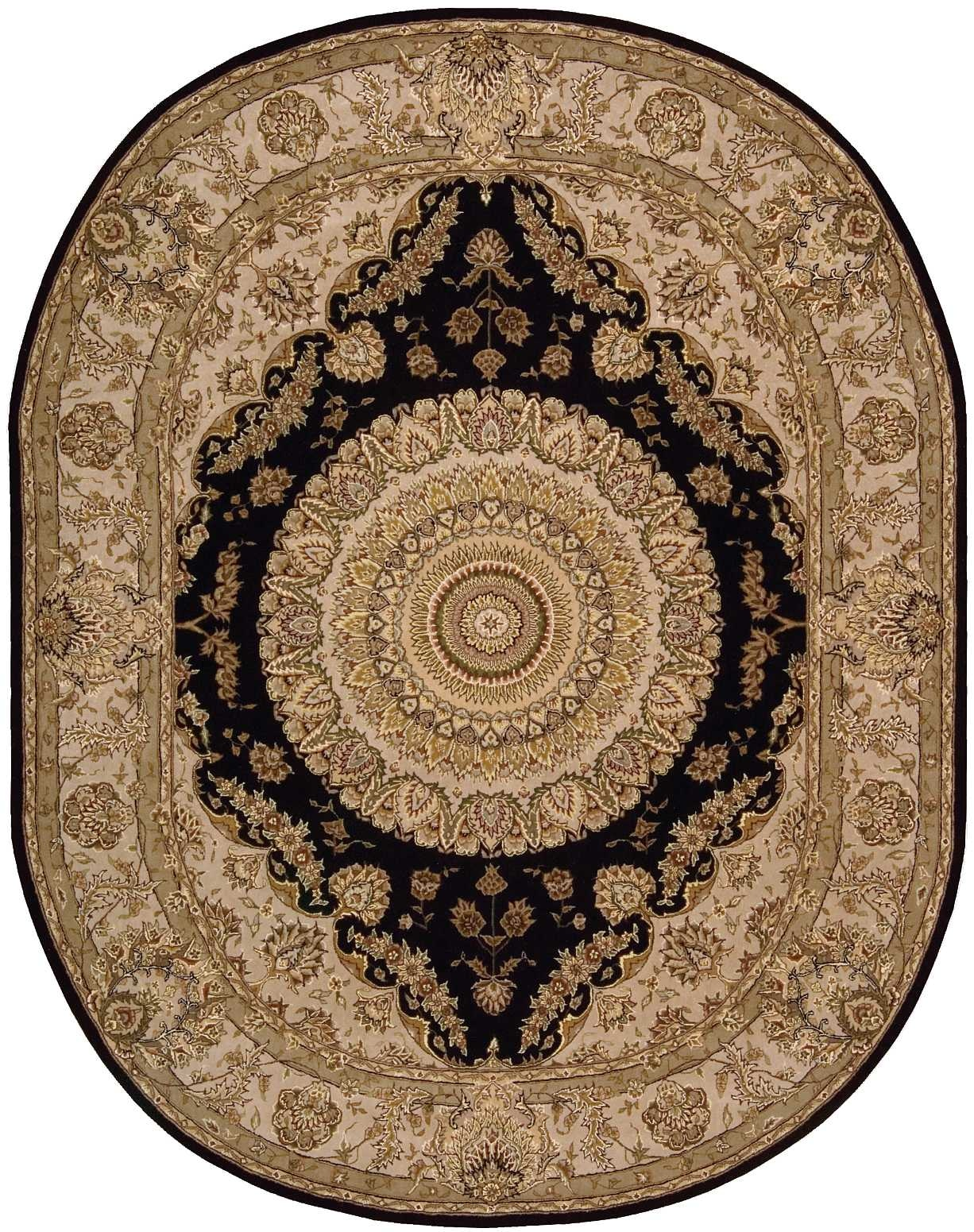 Nourison Floor Coverings 2000 2233 Black 10 Oval Area Rug 099446535542 Aminis