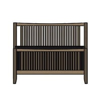 Spindle Bed With High Footboard Pwgatd08113