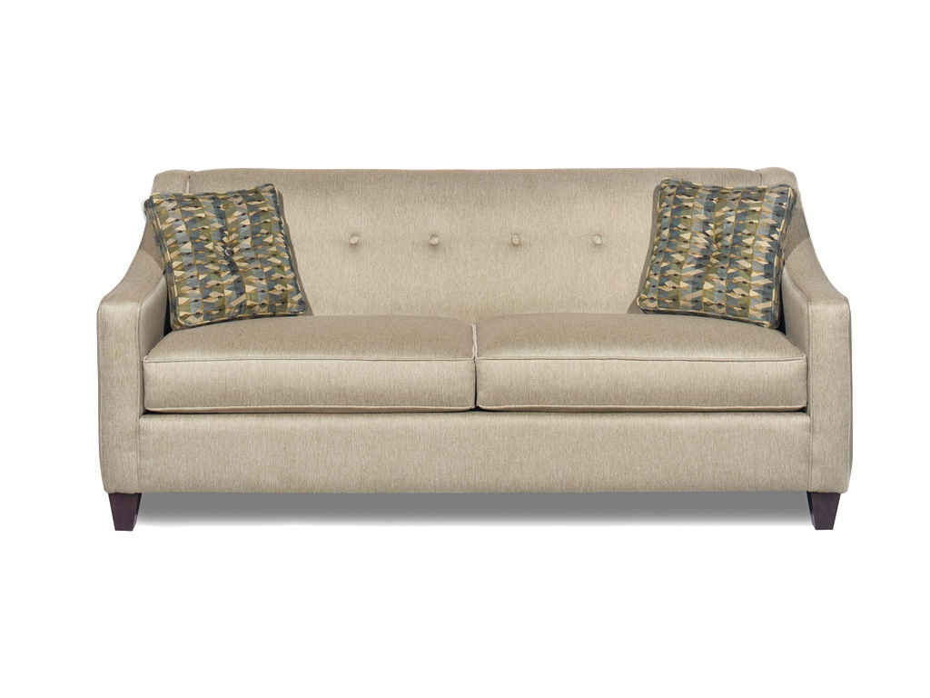 cloud track arm leather two seat cushion sofa l shape hickorycraft living room 706950