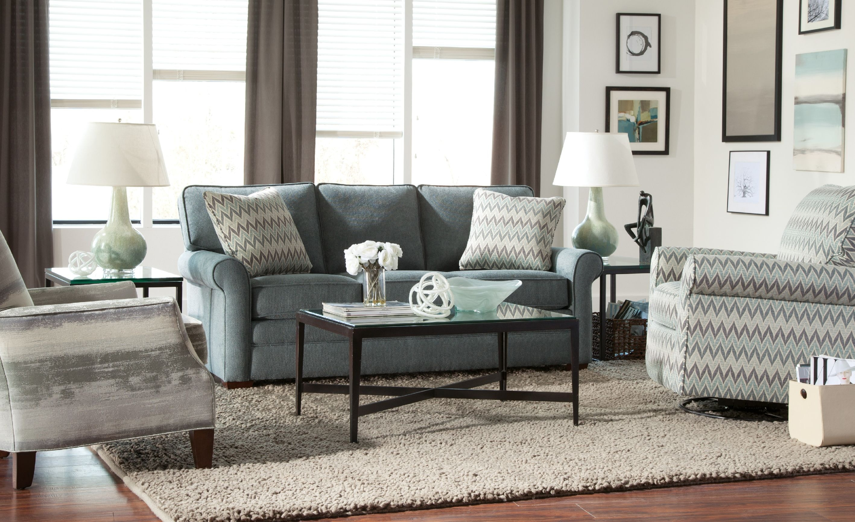 houndstooth sofa fabric chesterfield leather sale craftmaster living room 752350 - carol house ...
