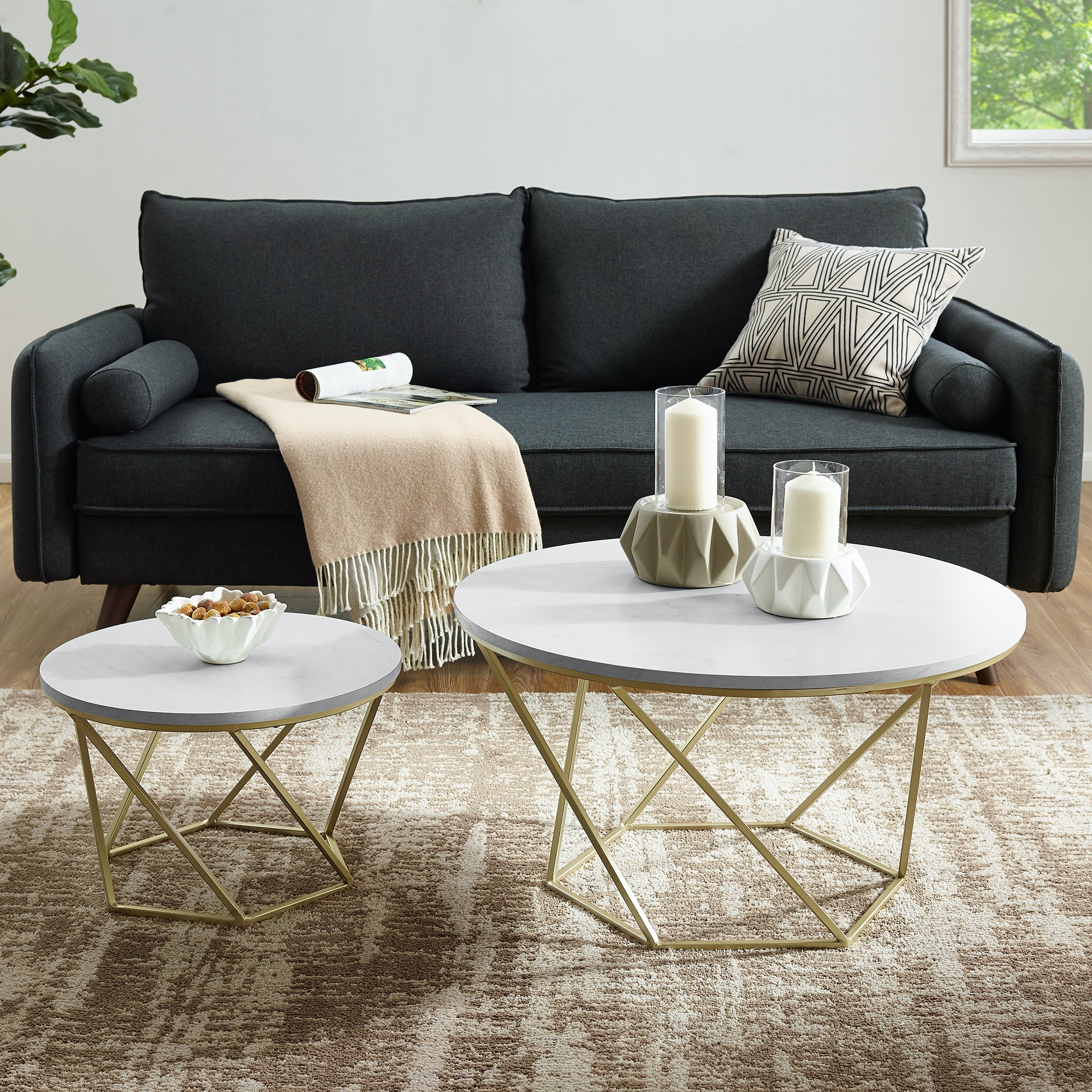 glass table sets for living room black and gray ideas modern bohemian geometric nesting coffee set white ft myers marble gold wedaf28clrgmg