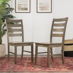 Ladderback Dining Chairs Parsons Kirklands Wood Ladder Back Chair Set Of 2 Wedch2lbagy Ft Myers