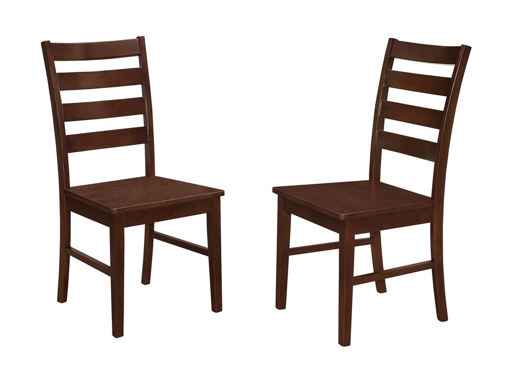 ladderback dining chairs gym chest chair wood ladder back set of 2 wedch2lbwt ft myers from walter e