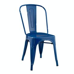Cafe Chairs Metal What Are Wwe Made Out Of Stackable Bistro Chair Navy Blue Wedch33mcnb Ft Myers