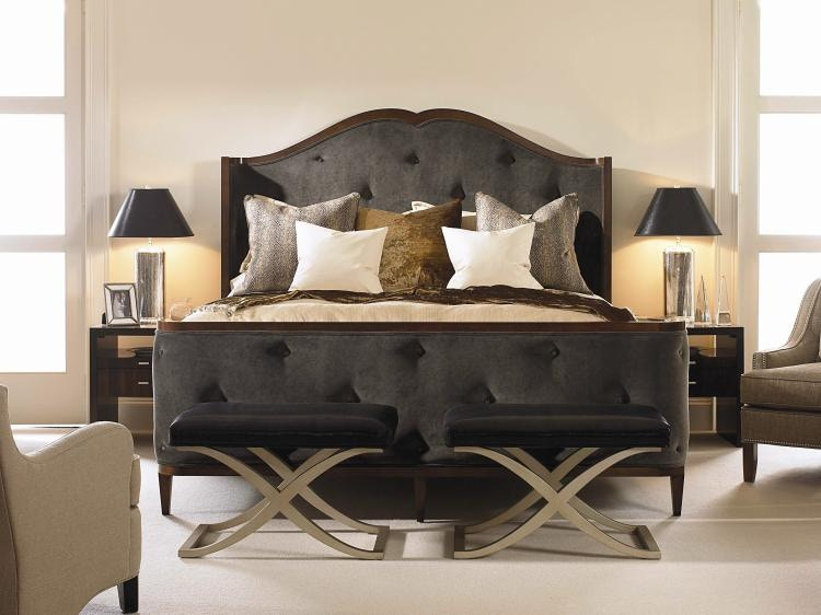 Century Furniture Bedroom Bed With Uph Headboard and