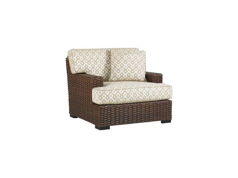 lounge chair shown with cushion set