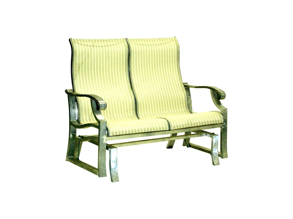 outdoor sling chairs canada round lounge chair mallin casual patio double glider an 157
