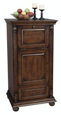 Howard Miller Bar and Game Room Cognac Wine Cabinet/Bar ...