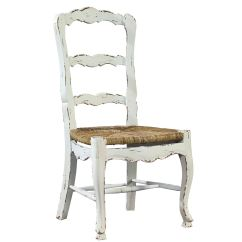 White Ladder Back Chairs Rush Seats Chair Design Bamboo Furniture Classics Dining Room French Ladderback Side 1144ag6