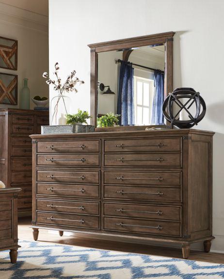John Thomas Bedroom 6 Drawer Dresser Rustic Finish Solidwood Bd40 9006 Woodworks Home