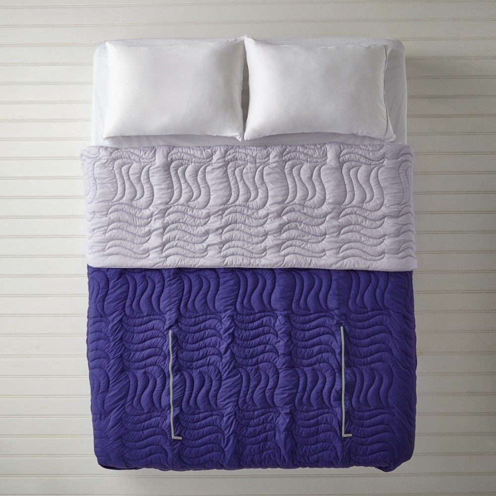bedroom chair with blanket crate and barrel dining chairs canada bedgear warmest performance blankets purple