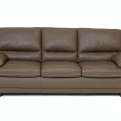 Taupe Color Leather Sofa Chaise Lounge Microfiber Living Room Denver Dark