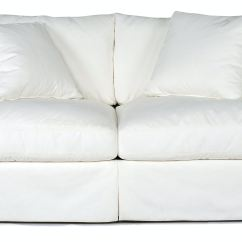 White Slipcovered Sofa Living Room How To Decorate My Apartment Lily St 449753