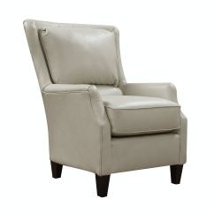 Leather Accent Chairs Chair With Wooden Arms Living Room Carmen St 506476