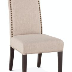 Cream Upholstered Dining Chairs Leather With Nailheads Room London Loft Jones Chair St 700624
