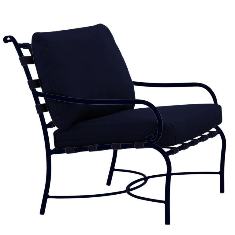 brown jordan roma strap lounge chair