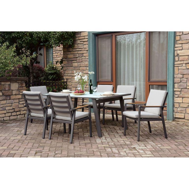 furniture of america outdoor patio 7 pc