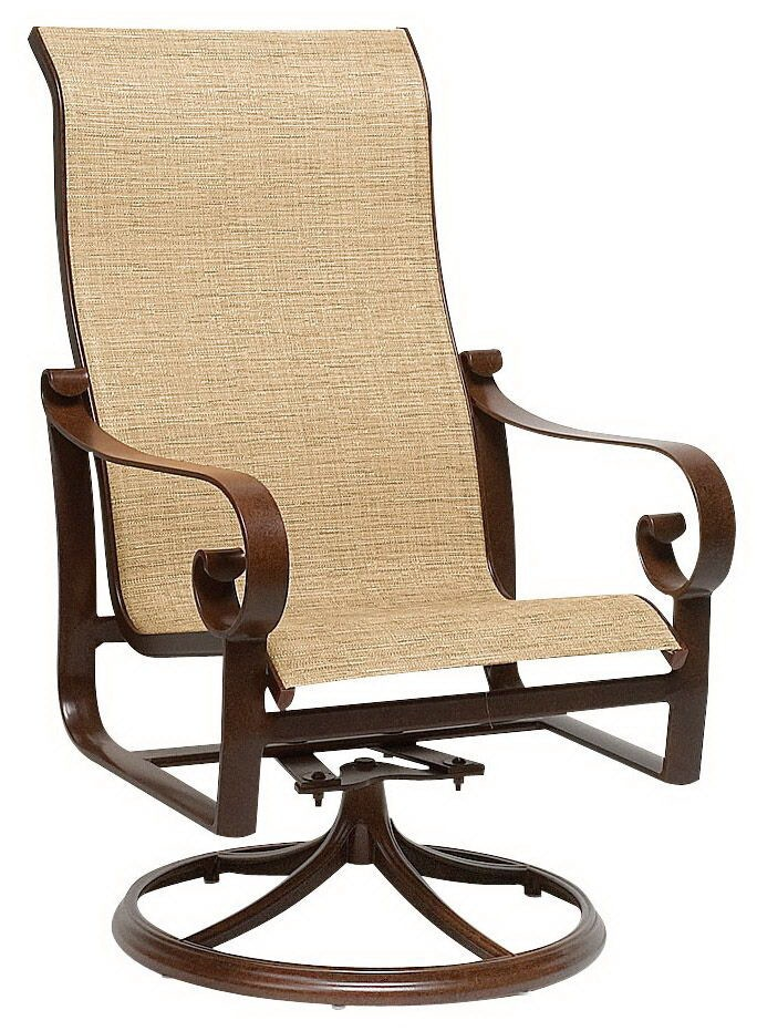 sling motion patio chairs massage chair deals outdoor high back swivel rocker dining arm by belden woodard 620466 call for prices 888 643 6003