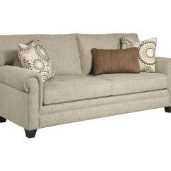 Broyhill Floral Sofa Buchanan Top Grain Leather Motion Living Room Monica 3678 3 Quality
