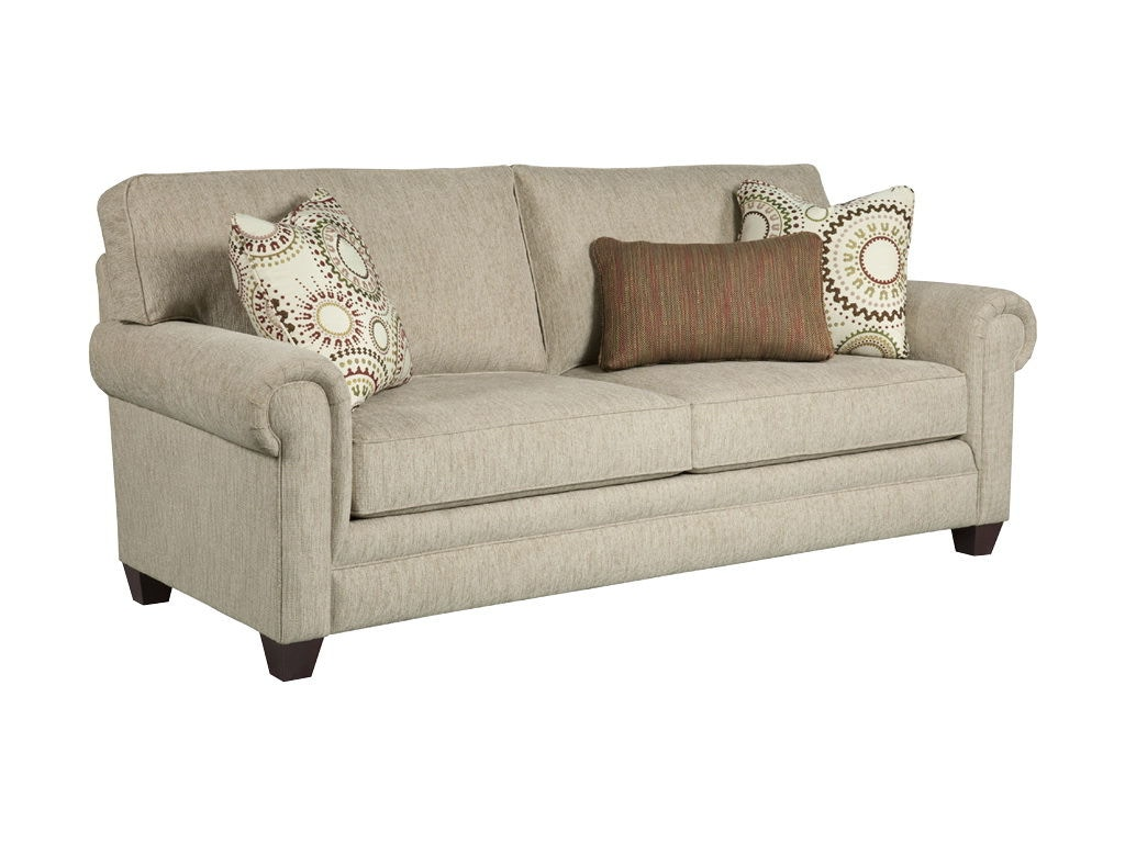 broyhill floral sofa on tufted canada living room monica queen irest sleeper 3678 ...