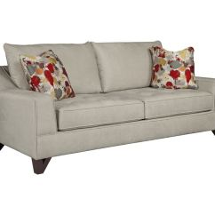 Broyhill Floral Sofa Leather Or Fabric With Dogs Living Room Atlas 3770 3 Weiss Furniture