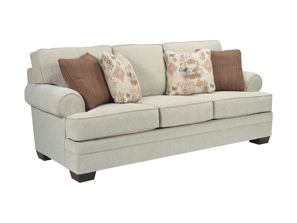 broyhill floral sofa red sectional living room landon 6608 3 gerbers home