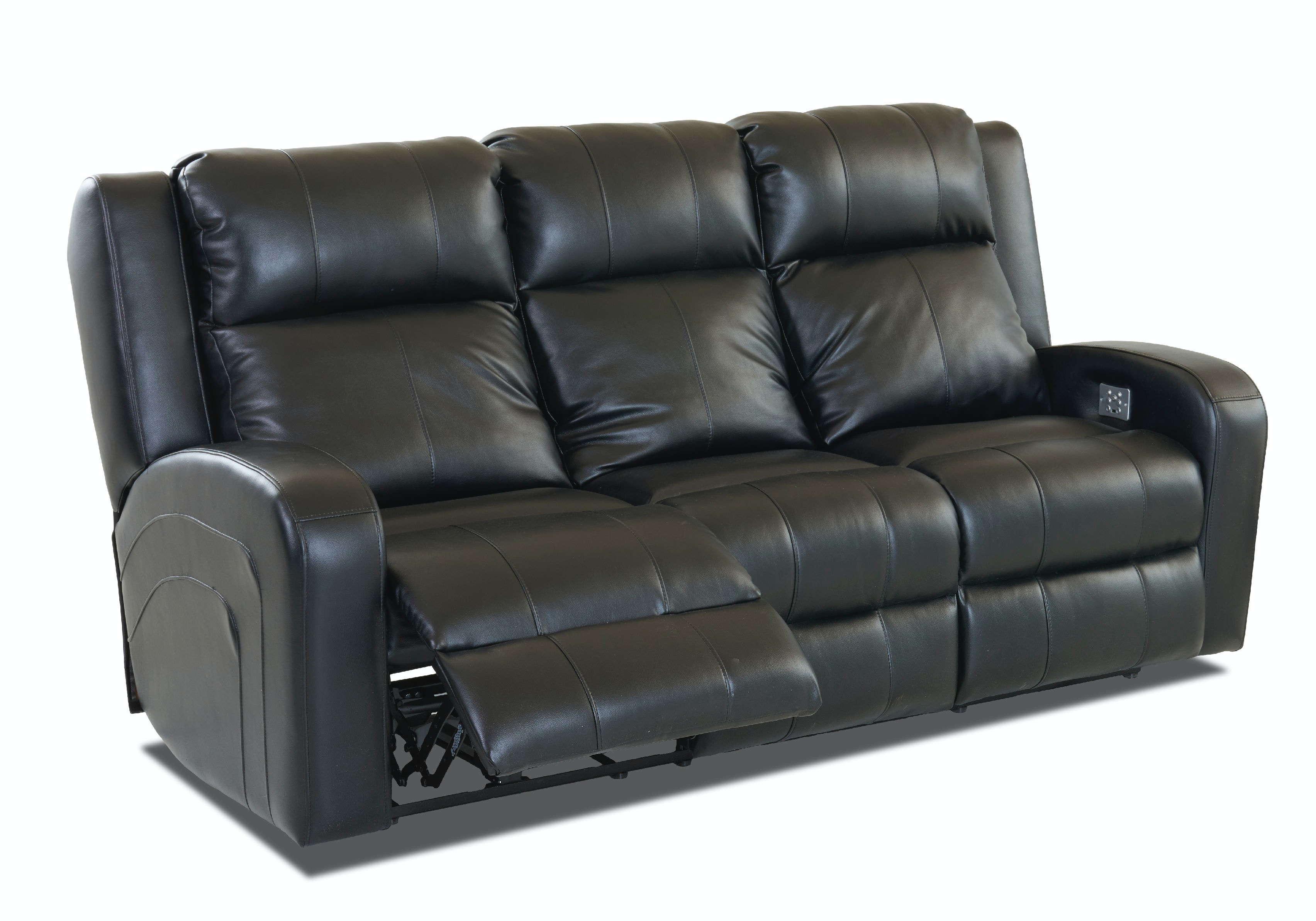 robinson and leather sofa caramel for sale klaussner living room 64943 8 pwrs