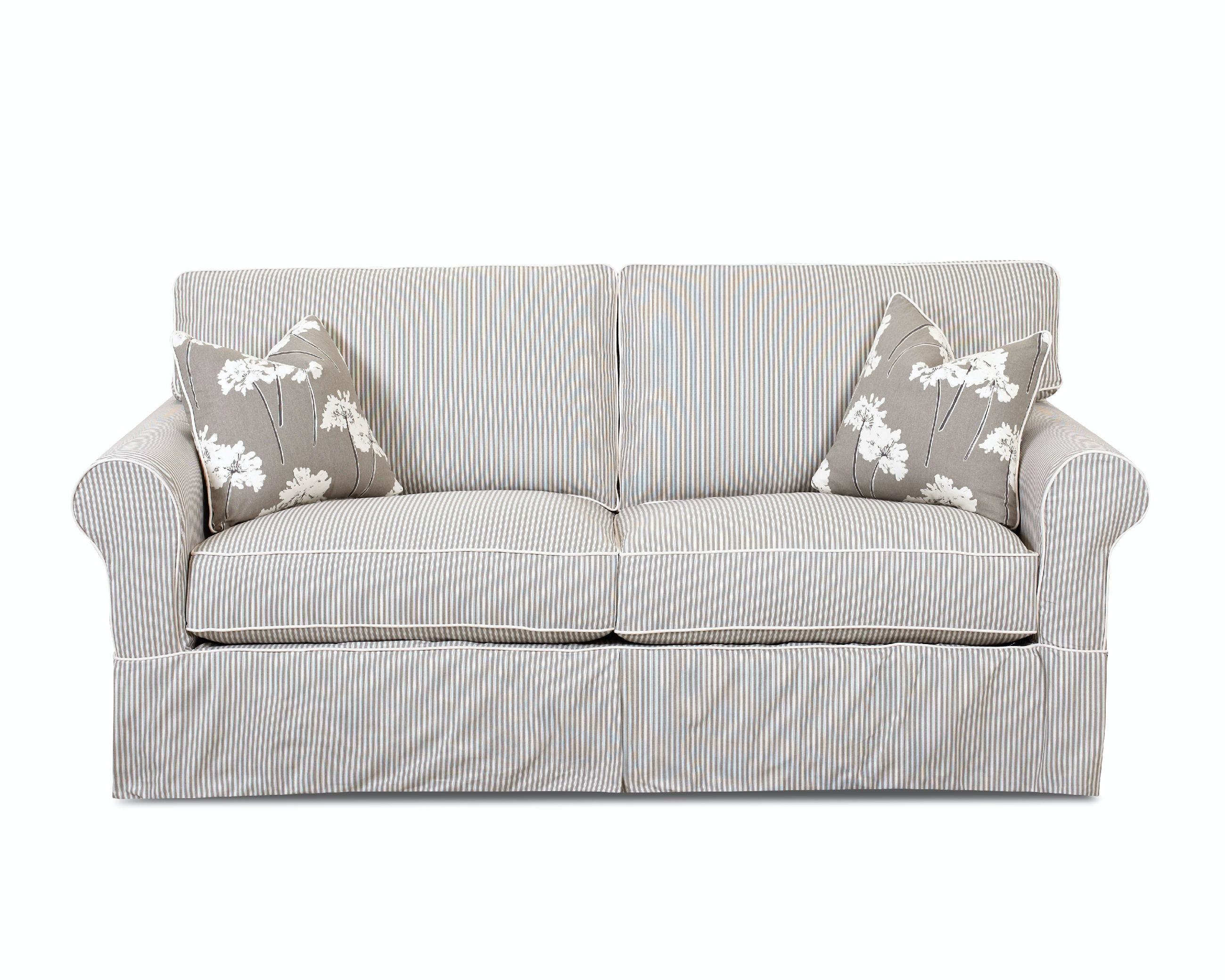 living room slipcovers with leather furniture american factory direct baton rouge la klaussner southern shores slipcover