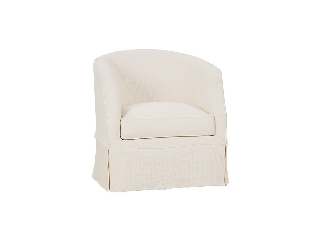 barrel swivel chair slipcover rentals seattle rowe living room ava w p155 016